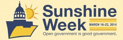 Sunshine Week 2014 Lesson Plans, Activities and Resources