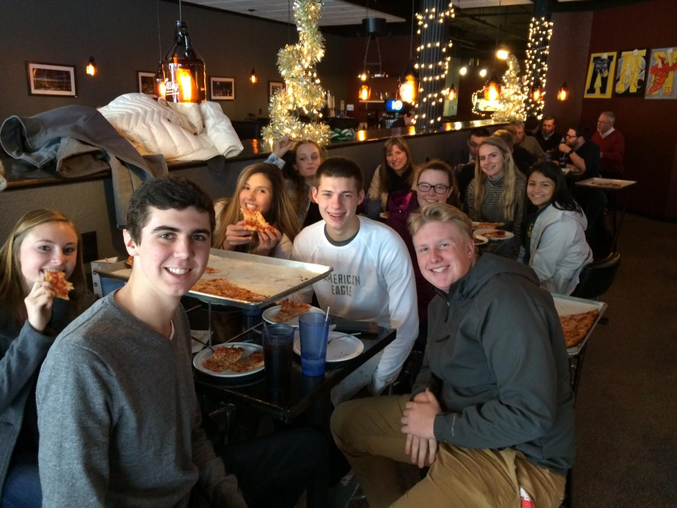 Staff at pizza downtown winter 2016